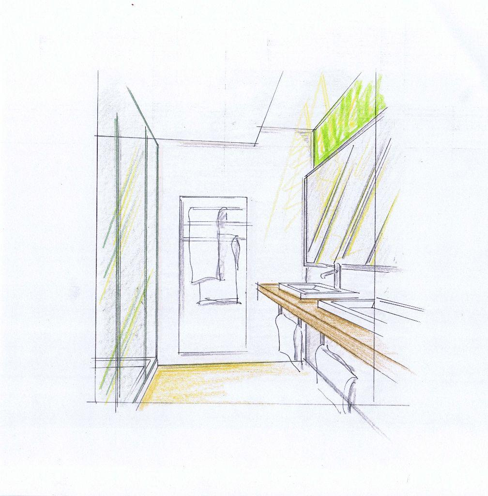 EH Suitenbad-Entwurf