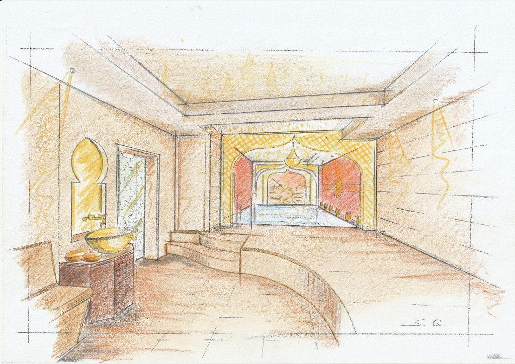 Entwurf Hamam-Raum