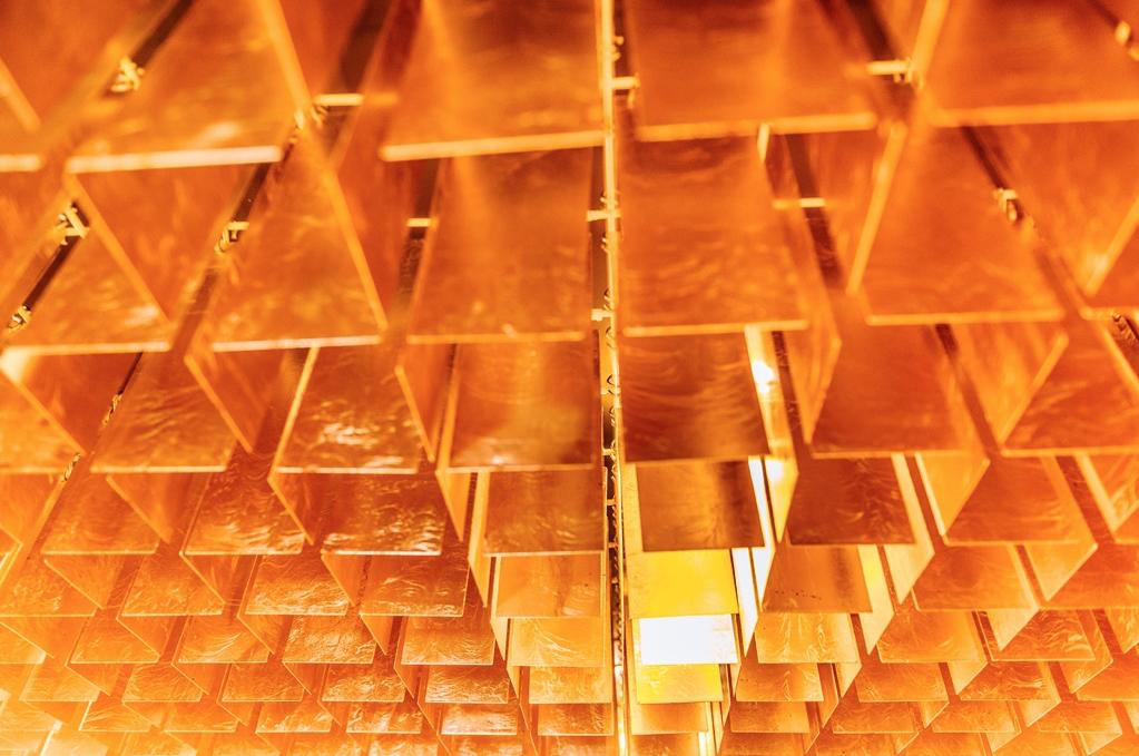 Goldblaettchen-Decke im OG