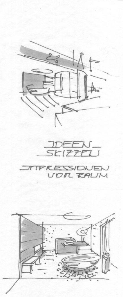 Ideenskizzen-Impressionen vom Raum
