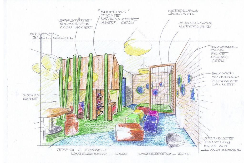 Kidsclub-Entwurfsidee-Perspektive