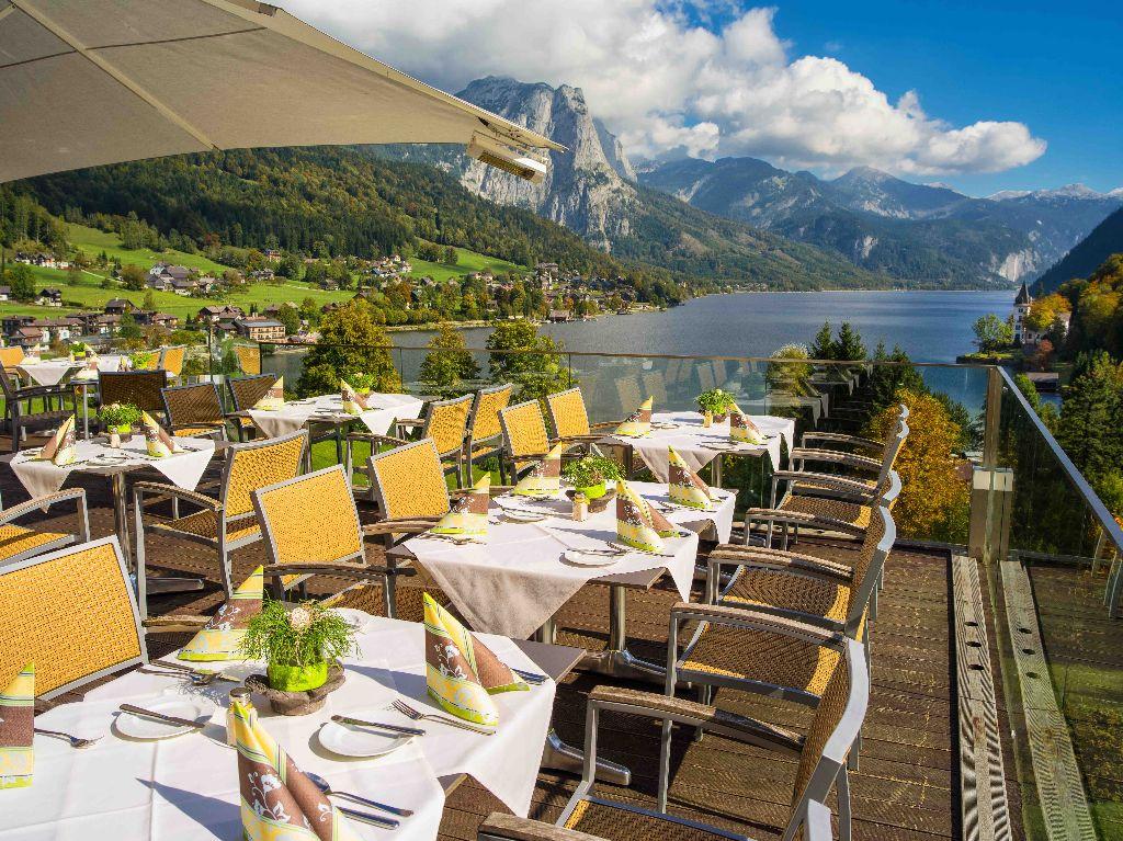 MONDI-HOLIDAY Seeblickhotel Grundlsee - Restaurantterrasse