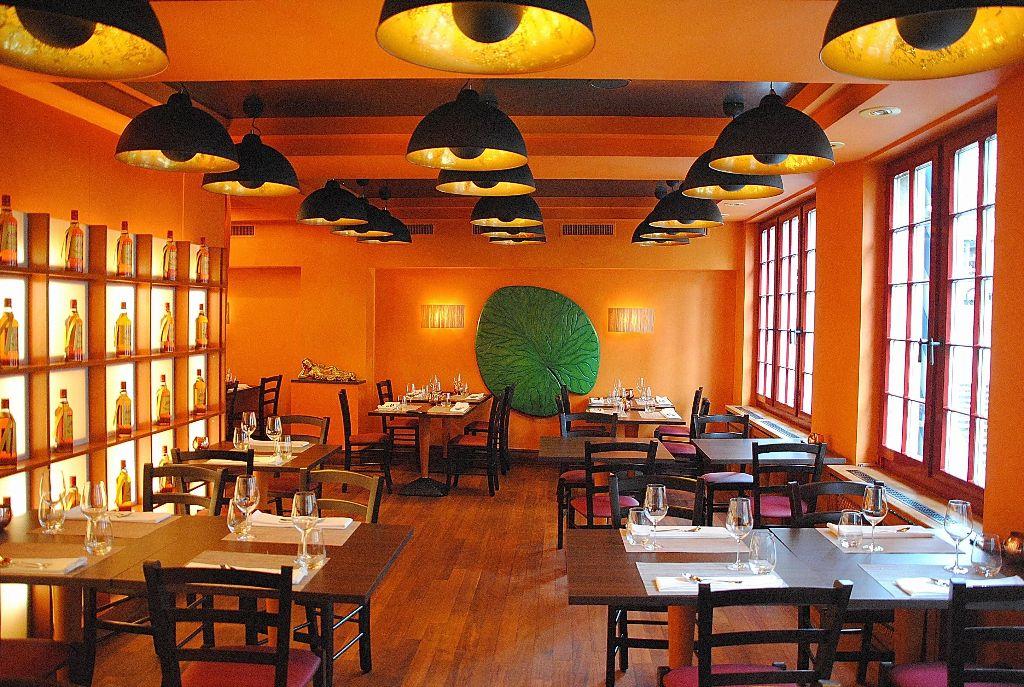 Restaurant im Obergeschoss