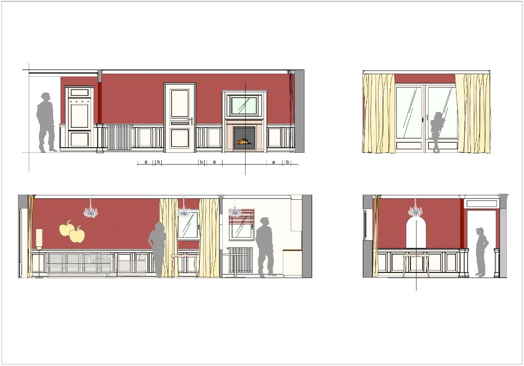 Rosen-Suite Entwurf Wohnzimmer