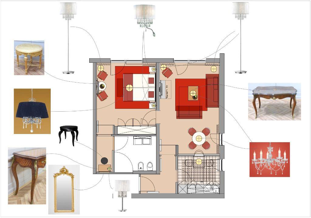 Rosen-Suite Grundriss-Ausfuehrung
