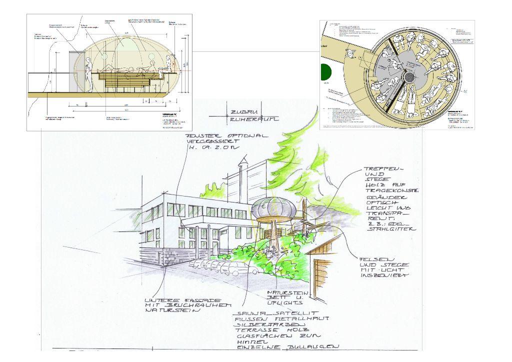 Sauna-Satellit-Ideenkonzept