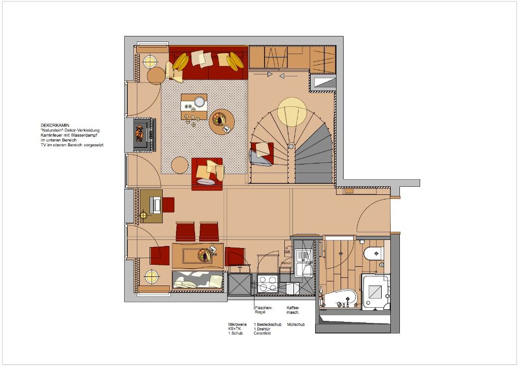 Suite 1612-Grundriss Ebene 1-Ausfuehrung