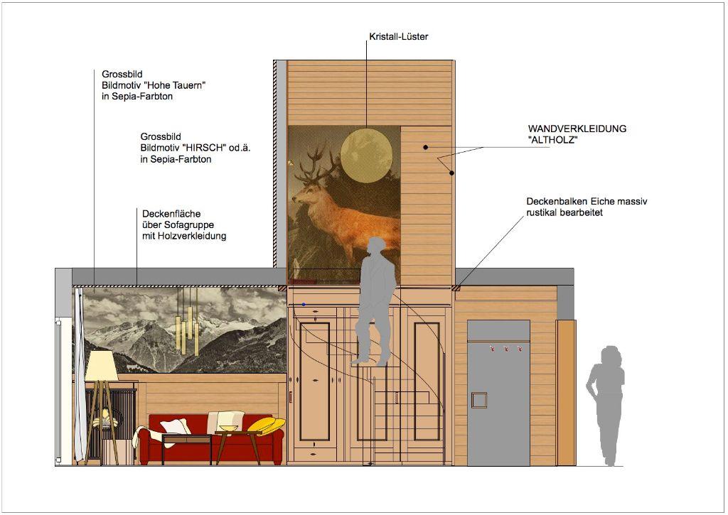 Turmsuite 1612-Ebene 1 + Treppenhaus-Ausfuehrung