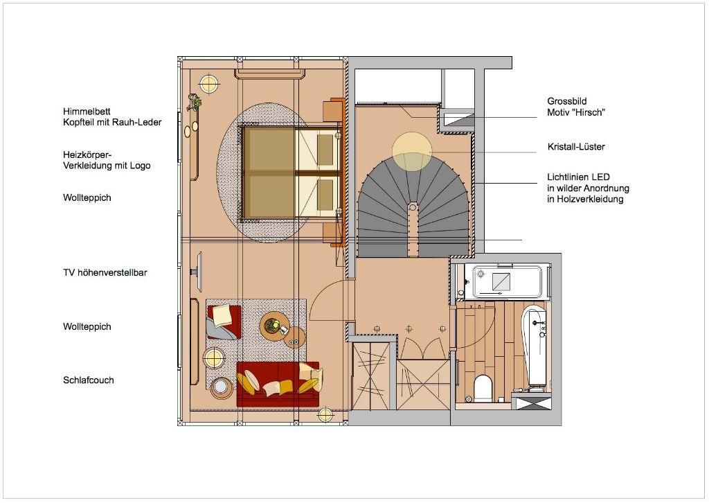 Turmsuite 1612-Ebene 2-Entwurf Grundriss