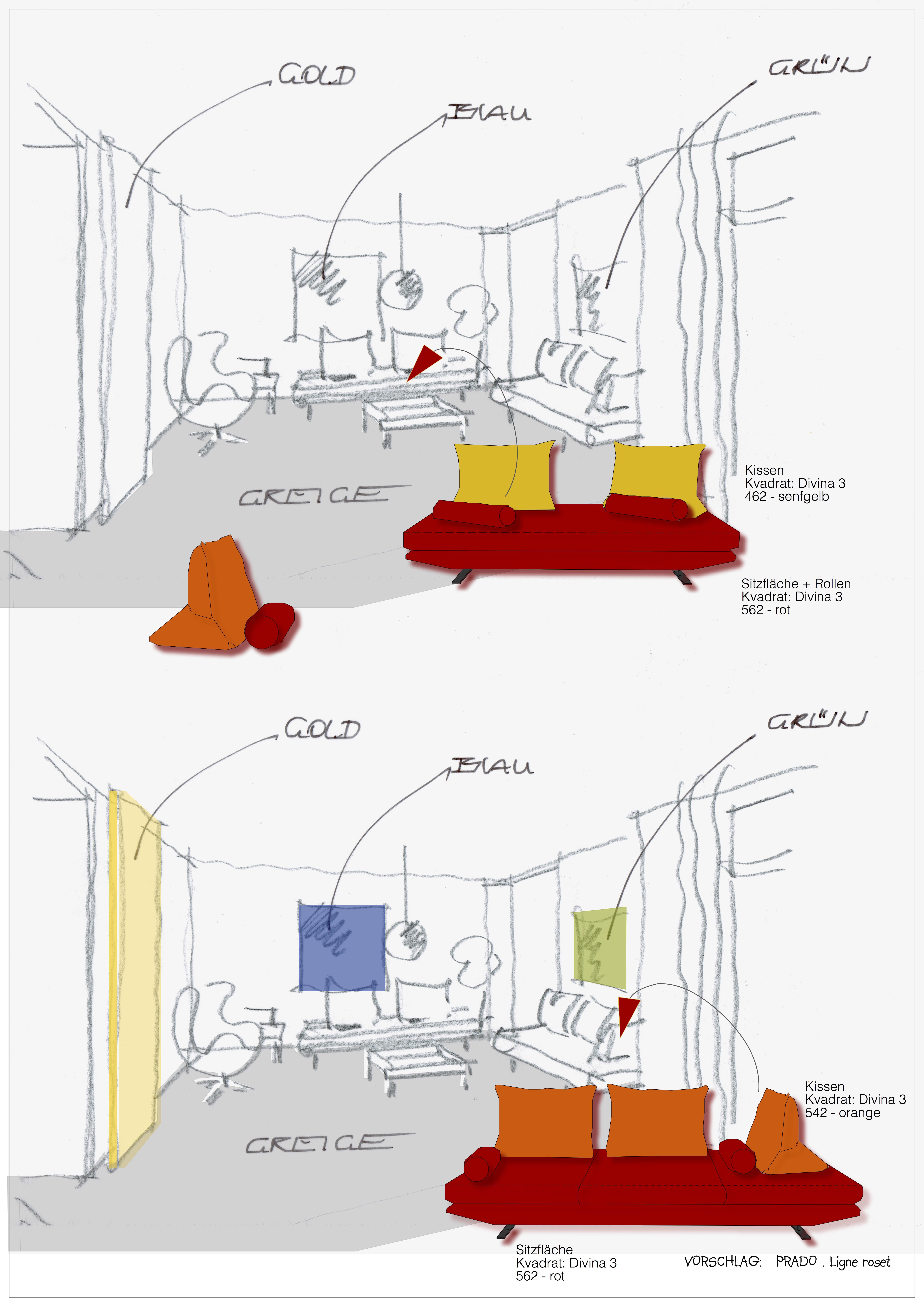 Wohnzimmer-Entwurf